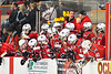 Baldwinsville Bees bnech as time winds down in the playoff game against the Rome Free Academy Black Knights in NYSPHSAA Section III Boys Ice hockey action at John F. Kennedy Civic Arena in Rome, New York on Friday, February 15, 2019. Baldwinsville won 5-3.