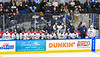 Skaneateles Lakers bench during the Section III, Division II Boys Ice Hockey Championship game against the Cortland-Homer Golden Eagles at the War Memorial Arena in Syracuse, New York on Monday, February 25, 2019.  Skaneateles Lakers won 4-1.