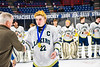 Skaneateles Lakers Luke Lynn (22) receives his Section III, Division II Boys Ice Hockey Championship medallion at the War Memorial Arena in Syracuse, New York on Monday, February 25, 2019.