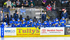 Cortland-Homer Golden Eagles bench during the Section III, Division II Boys Ice Hockey Championship game against the Skaneateles Lakers at the War Memorial Arena in Syracuse, New York on Monday, February 25, 2019.  Skaneateles Lakers won 4-1.