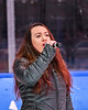Singing of the National Anthem before theh Syracuse Cougars and West Genesee Wildcats played in the Section III, Division I Boys Ice Hockey Championship game at the War Memorial Arena in Syracuse, New York on Monday, February 25, 2019.