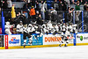 Syracuse Cougars pour out of their bench to celebrate the overtime victory over the West Genesee Wildcats in the Section III, Division I Boys Ice Hockey Championship game at the War Memorial Arena in Syracuse, New York on Monday, February 25, 2019.  Syracuse won 3-2 in 4OT.