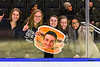 Syracuse Cougars fans at the Section III, Division I Boys Ice Hockey Championship game at the War Memorial Arena in Syracuse, New York on Monday, February 25, 2019.