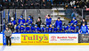 West Genesee Wildcats bench during the Section III, Division I Boys Ice Hockey Championship game at the War Memorial Arena in Syracuse, New York on Monday, February 25, 2019.  Syracuse won 3-2 in 4OT.