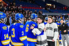 Syracuse Cougars played the West Genesee Wildcats in the Section III, Division I Boys Ice Hockey Championship game at the War Memorial Arena in Syracuse, New York on Monday, February 25, 2019.  Syracuse won 3-2 in 4OT.