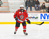 Baldwinsville Bees Alexander Pompo (5) on the ice against the Rome Free Academy Black Knights in NYSPHSAA Section III Boys Ice hockey action at John F. Kennedy Civic Arena in Rome, New York on Tuesday, January 15, 2019. Rome Free Academy won 4-1.
