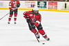 Baldwinsville Bees Ryan Muscatello (3) skating with the puck against the Rome Free Academy Black Knights in NYSPHSAA Section III Boys Ice hockey action at John F. Kennedy Civic Arena in Rome, New York on Tuesday, January 15, 2019. Rome Free Academy won 4-1.