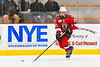 Baldwinsville Bees Braden Lynch (23) skating with the puck against the Rome Free Academy Black Knights in NYSPHSAA Section III Boys Ice hockey action at John F. Kennedy Civic Arena in Rome, New York on Tuesday, January 15, 2019. Rome Free Academy won 4-1.
