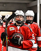 Baldwinsville Bees Alexander Pompo (5) comes out of the locker room before playing the Rome Free Academy Black Knights in a NYSPHSAA Section III Boys Ice hockey game at John F. Kennedy Civic Arena in Rome, New York on Tuesday, January 15, 2019.
