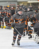 Rome Free Academy Black Knights Aaron Simons (16) being introduced before playing the Baldwinsville Bees in a NYSPHSAA Section III Boys Ice hockey game at John F. Kennedy Civic Arena in Rome, New York on Tuesday, January 15, 2019.