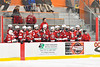 Baldwinsville Bees bench watching their team play the Rome Free Academy Black Knights in NYSPHSAA Section III Boys Ice hockey action at John F. Kennedy Civic Arena in Rome, New York on Tuesday, January 15, 2019. Rome Free Academy won 4-1.