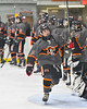 Rome Free Academy Black Knights Jake Hall (2) being introduced before playing the Baldwinsville Bees in a NYSPHSAA Section III Boys Ice hockey game at John F. Kennedy Civic Arena in Rome, New York on Tuesday, January 15, 2019.