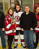 Baldwinsville Bees Ryan Muscatello (3) and his family on Senior Night at the Lysander Ice Arena in Baldwinsville, New York on Tuesday, February 5, 2019.