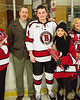 Baldwinsville Bees Quinn Sweeney (4) and his family on Senior Night at the Lysander Ice Arena in Baldwinsville, New York on Tuesday, February 5, 2019.