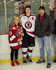 Baldwinsville Bees Cameron Sweeney (21) and his family on Senior Night at the Lysander Ice Arena in Baldwinsville, New York on Tuesday, February 5, 2019.
