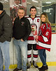 Baldwinsville Bees Michael Carni (6) and his family on Senior Night at the Lysander Ice Arena in Baldwinsville, New York on Tuesday, February 5, 2019.