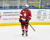 Baldwinsville Bees Alexander Pompo (5) being introduced before playing the Christian Brothers Academy in a NYSPHSAA Section III Boys Ice hockey game at Onondaga Nation Arena in Nedrow, New York on Tuesday, January 7, 2020.