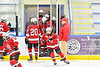 Baldwinsville Bees players take the ice before playing the Christian Brothers Academy in a NYSPHSAA Section III Boys Ice hockey game at Onondaga Nation Arena in Nedrow, New York on Tuesday, January 7, 2020.