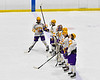 Christian Brothers Academy starting lineup introduced before playing the Baldwinsville Bees in a NYSPHSAA Section III Boys Ice hockey game at Onondaga Nation Arena in Nedrow, New York on Tuesday, January 7, 2020.