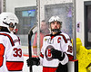 Baldwinsville Bees Matt Speelman (18) after playing the Ithaca Little Red in a NYSPHSAA Section III Boys Ice Hockey game at the Lysander Ice Arena in Baldwinsville, New York on Tuesday, January 14, 2020. Ithaca won 3-2.