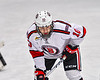 Baldwinsville Bees Nick Purdy (10) before a face-off against the Cicero-North Syracuse Northstars in NYSPHSAA Section III Boys Ice Hockey action at the Lysander Ice Arena in Baldwinsville, New York on Tuesday, January 21, 2020. Baldwinsville won 7-0.