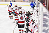 Baldwinsville Bees Tyler Derito (27) celebrates his goal against the Cicero-North Syracuse Northstars in NYSPHSAA Section III Boys Ice Hockey action at the Lysander Ice Arena in Baldwinsville, New York on Tuesday, January 21, 2020. Baldwinsville won 7-0.