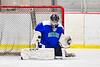 Cicero-North Syracuse Northstars goalie Jordan Miller (1) makes a save against the Baldwinsville Bees in NYSPHSAA Section III Boys Ice Hockey action at the Lysander Ice Arena in Baldwinsville, New York on Tuesday, January 21, 2020. Baldwinsville won 7-0.