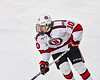 Baldwinsville Bees Nick Purdy (10) skating with the puck against the Cicero-North Syracuse Northstars in NYSPHSAA Section III Boys Ice Hockey action at the Lysander Ice Arena in Baldwinsville, New York on Tuesday, January 21, 2020. Baldwinsville won 7-0.