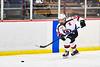 Baldwinsville Bees Matt Speelman (18) passes the puck against the Cicero-North Syracuse Northstars in NYSPHSAA Section III Boys Ice Hockey action at the Lysander Ice Arena in Baldwinsville, New York on Tuesday, January 21, 2020. Baldwinsville won 7-0.