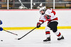 Baldwinsville Bees Garrett Sutton (22) fires the puck at the Cicero-North Syracuse Northstars net in NYSPHSAA Section III Boys Ice Hockey action at the Lysander Ice Arena in Baldwinsville, New York on Tuesday, January 21, 2020. Baldwinsville won 7-0.