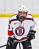Baldwinsville Bees Brett Collier (21) before a face-off against the Cicero-North Syracuse Northstars in NYSPHSAA Section III Boys Ice Hockey action at the Lysander Ice Arena in Baldwinsville, New York on Tuesday, January 21, 2020. Baldwinsville won 7-0.