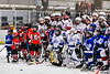 Baldwinsville Bees players host the Lysander Mites duirng intermission of a NYSPHSAA Section III Boys Ice Hockey game at the Lysander Ice Arena in Baldwinsville, New York on Tuesday, January 21, 2020.