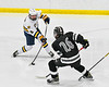 West Genesee Wildcats Billy Fisher (8) fires the puck against the Syracuse Cougars in a NYSPHSAA Section III Boys Ice hockey game at Shove Park in Camillus, New York on Wednesday, January 22, 2020. Game ended in a 1-1 tie.