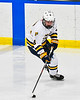 West Genesee Wildcats Billy Fisher (8) with the puck against the Syracuse Cougars in a NYSPHSAA Section III Boys Ice hockey game at Shove Park in Camillus, New York on Wednesday, January 22, 2020. Game ended in a 1-1 tie.