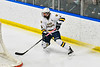West Genesee Wildcats w06 Jake Kopek (6) with the puck against the Syracuse Cougars in a NYSPHSAA Section III Boys Ice hockey game at Shove Park in Camillus, New York on Wednesday, January 22, 2020. Game ended in a 1-1 tie.