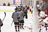 Rome Free Academy Black Knights Jared Hussein (13) celebrates his goal against the Baldwinsville Bees in NYSPHSAA Section III Boys Ice Hockey action at the Lysander Ice Arena in Baldwinsville, New York on Tuesday, January 28, 2020. Game ended up in a tie, 1-1.