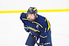 Cazenovia Lakers Andrew Parkhurst (7) before a face-off against the Baldwinsville Bees in NYSPHSAA Section III Boys Ice Hockey action at the Lysander Ice Arena in Baldwinsville, New York on Friday, January 31, 2020. Baldwinsville won 8-1.