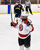 Baldwinsville Bees Matt Carner (9) celebrates his goal against the Cazenovia Lakers in NYSPHSAA Section III Boys Ice Hockey action at the Lysander Ice Arena in Baldwinsville, New York on Friday, January 31, 2020. Baldwinsville won 8-1.