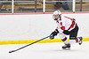 Baldwinsville Bees Matt Speelman (18) skating with the puck against the Cazenovia Lakers in NYSPHSAA Section III Boys Ice Hockey action at the Lysander Ice Arena in Baldwinsville, New York on Friday, January 31, 2020. Baldwinsville won 8-1.
