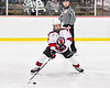 Baldwinsville Bees Zach Treichler (7) with the puck against the Cazenovia Lakers in NYSPHSAA Section III Boys Ice Hockey action at the Lysander Ice Arena in Baldwinsville, New York on Friday, January 31, 2020. Baldwinsville won 8-1.