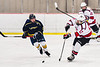 Baldwinsville Bees Christian Ficarra (17) passes the puck against the Cazenovia Lakers in NYSPHSAA Section III Boys Ice Hockey action at the Lysander Ice Arena in Baldwinsville, New York on Friday, January 31, 2020. Baldwinsville won 8-1.