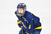 Cazenovia Lakers Bryson Weaver (6) before a face-off against the Baldwinsville Bees in NYSPHSAA Section III Boys Ice Hockey action at the Lysander Ice Arena in Baldwinsville, New York on Friday, January 31, 2020. Baldwinsville won 8-1.
