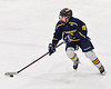 Cazenovia Lakers Jacob Owens (19) skating with the puck against the Baldwinsville Bees in NYSPHSAA Section III Boys Ice Hockey action at the Lysander Ice Arena in Baldwinsville, New York on Friday, January 31, 2020. Baldwinsville won 8-1.