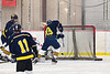 Cazenovia Lakers John Dudrick (23) scores a goal against the Baldwinsville Bees  in NYSPHSAA Section III Boys Ice Hockey action at the Lysander Ice Arena in Baldwinsville, New York on Friday, January 31, 2020. Baldwinsville won 8-1.