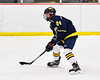 Cazenovia Lakers Jack Donline (24) with the puck against the Baldwinsville Bees in NYSPHSAA Section III Boys Ice Hockey action at the Lysander Ice Arena in Baldwinsville, New York on Friday, January 31, 2020. Baldwinsville won 8-1.