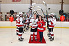 Baldwinsville Bees Colin Bourque (3) on Senior Night at the Lysander Ice Arena in Baldwinsville, New York on Tuesday, February 4, 2020.
