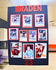 Braden Lynch (23) poster on display for Baldwinsville Bees Boys Hockey Senior Night at the Lysander Ice Arena in Baldwinsville, New York on Tuesday, February 4, 2020.