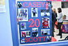 Casey Scott (20) poster on display for Baldwinsville Bees Boys Hockey Senior Night at the Lysander Ice Arena in Baldwinsville, New York on Tuesday, February 4, 2020.