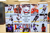 Matt Speelman (18) poster on display for Baldwinsville Bees Boys Hockey Senior Night at the Lysander Ice Arena in Baldwinsville, New York on Tuesday, February 4, 2020.
