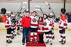 Baldwinsville Bees Braden Lynch (23) on Senior Night at the Lysander Ice Arena in Baldwinsville, New York on Tuesday, February 4, 2020.
